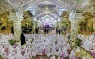 تصویر جالب از جشن تکلیف 1000 دختر در نجف