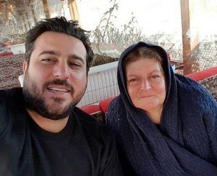 محسن کیایی بانمک و مادرش+عکس