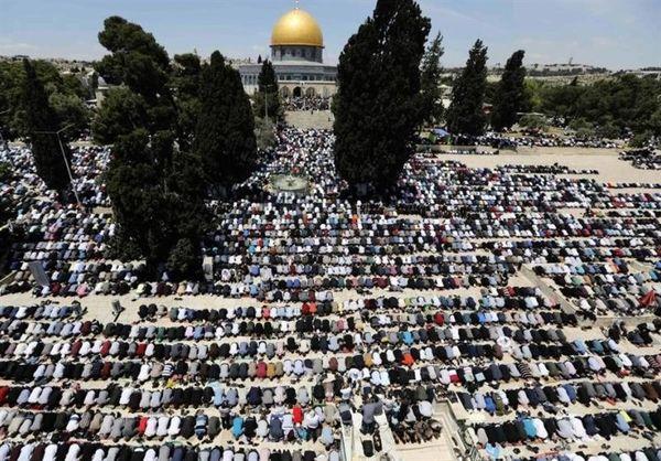 مشارکت بیش از ۳۰ هزار نفر در نماز جمعه مسجدالاقصی