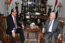رایزنی فواد معصوم و مالکی درباره ائتلاف بزرگ پارلمانی عراق