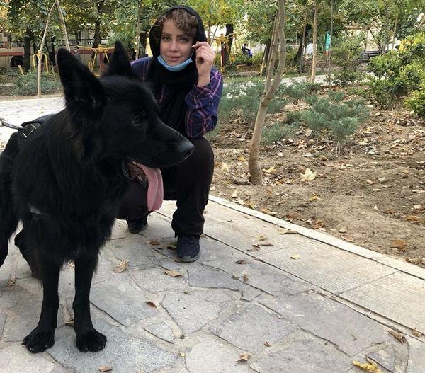 سگ سیاه شراره رخام + عکس