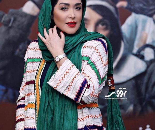 سارا منجزی پور در اکران شاه کش+عکس