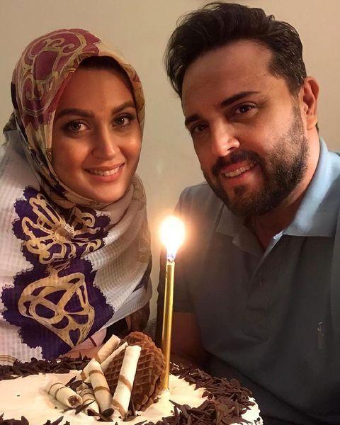 تولد مجری مشهور تلویزیون در کنار همسرش + عکس