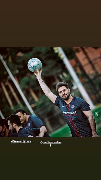 فوتبال بازی کردن دانیال عبادی + عکس