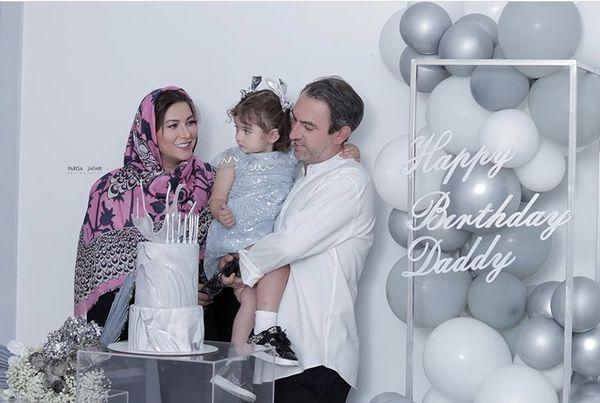 فریبا نادری در تولد همسرش + عکس