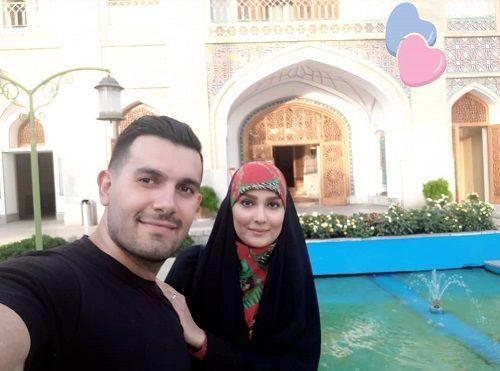 گشت و گذار مژده خنجری و همسرش + عکس