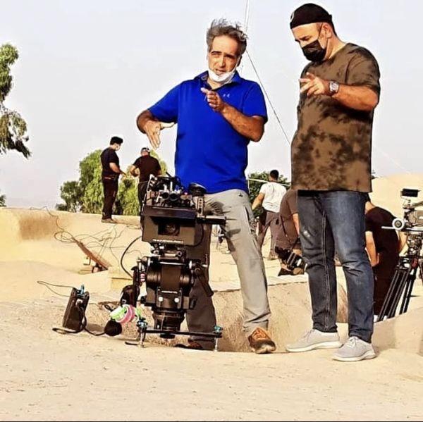 مهران احمدی در حال فیلمبرداری کار جدیدش + عکس