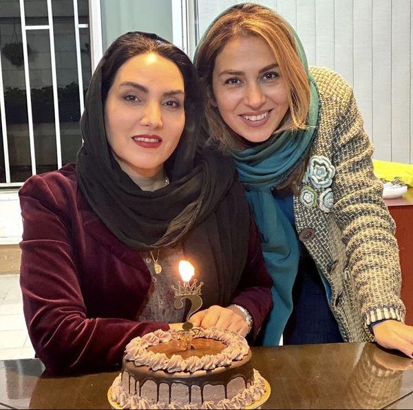 مرجان شیرمحمدی و دوستش در تولد + عکس