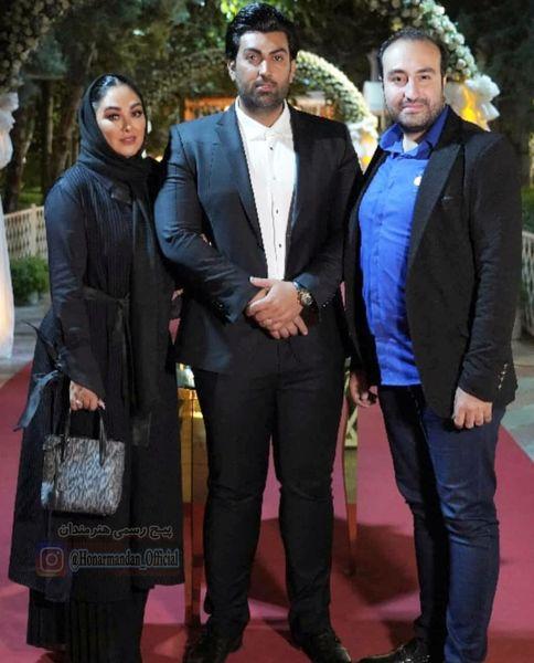 عکس الهام حمیدی و همسرش با تیپ مجلسی در تالار