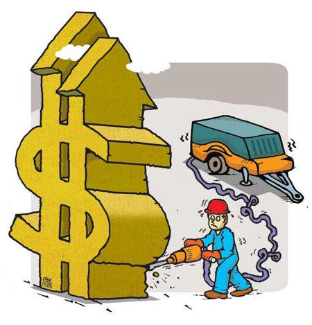 کاریکاتور افزایش نرخ دلار در بازار آزاد