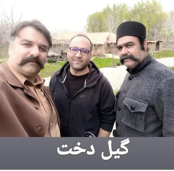 مجید سعیدی در کنار عوامل سریال گیلدخت + عکس
