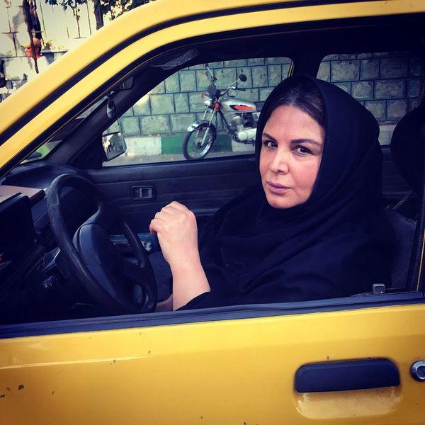 تاکسی خانم بازیگر معروف+عکس