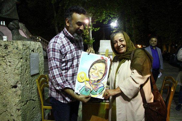 واکنش مرضیه برومند و امیرحسین صدیق پس از دیدن کاریکاتورشان