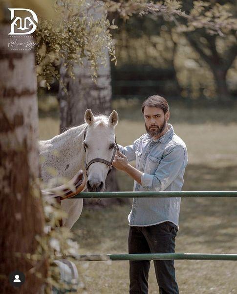 اسب سفید امیرعلی دانایی + عکس