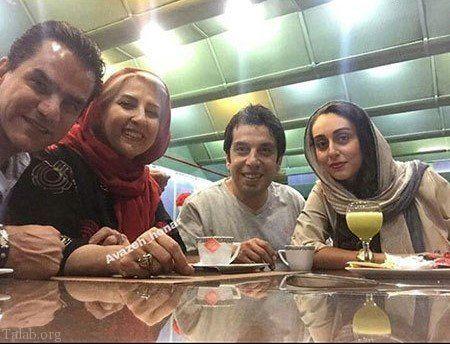 کافه گردی بازیگر بچه مهندس و همسرش با مرجانه گلچین+عکس
