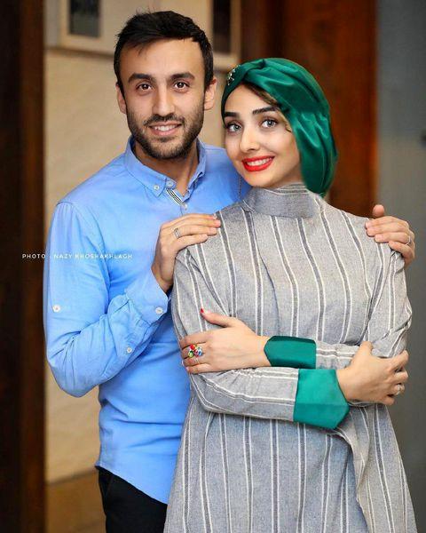 عروس و پسر فاطمه گودرزی در کنار هم + عکس