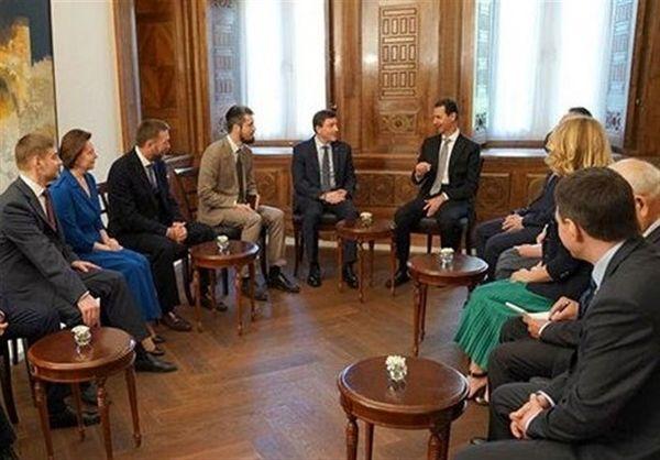 بشار اسد یک هیئت روسی را به حضور پذیرفت