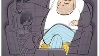 کاریکاتور:مرد خانواده از نگاه تلویزیون!