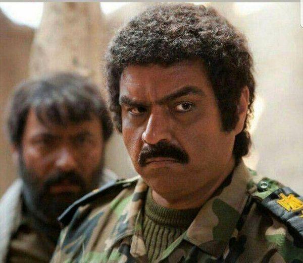 شهرام قائدی با گریم بعثی های عراق
