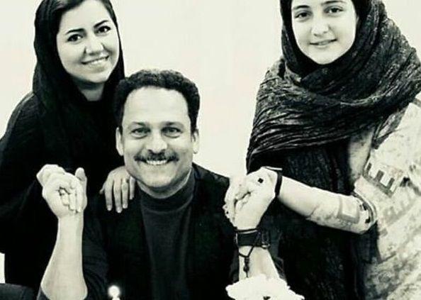 حسین یاری در کنار عروس و دخترش+عکس