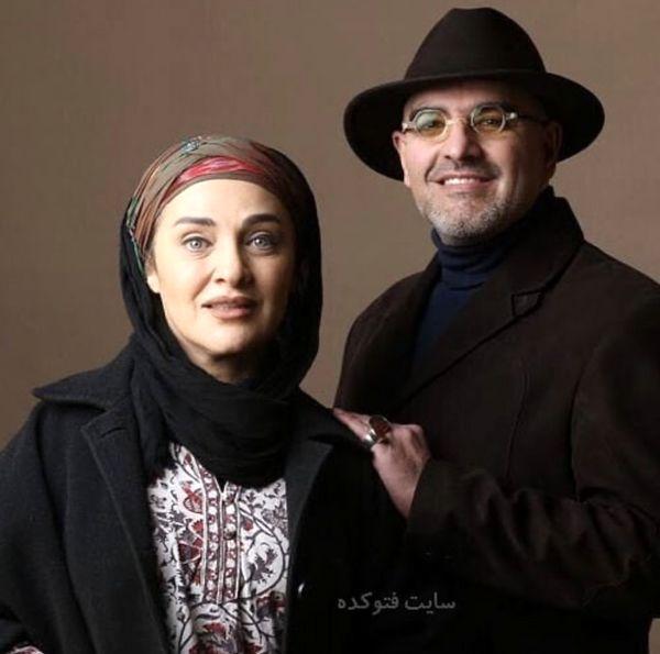 رویا نونهالی در کنار همسرش + عکس