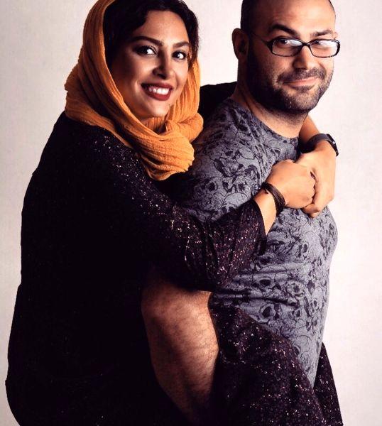 عاشقانه های حدیثه تهرانی و همسرش + عکس