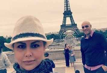 امیر یل ارجمند و همسر بازیگرش در پاریس+عکس