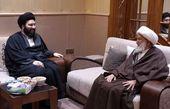 دیدار نوه امام خمینی(ره) با شیخ عیسی قاسم در عراق