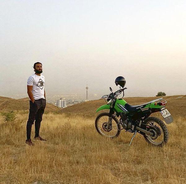 موتورسواری حرفه ای امیر جدیدی + عکس