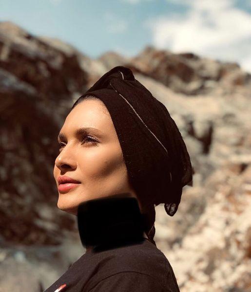 کوهنوردی ساناز سعیدی + عکس