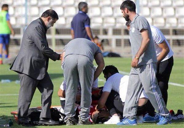 خونریزی شدید بازیکن ملوان در بازی جام حذفی