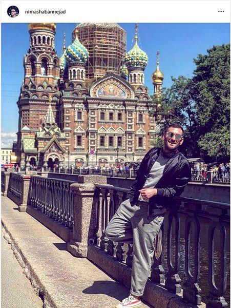 گشت و گذار بازیگر دوپینگ در روسیه + عکس