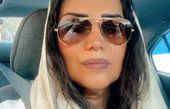الهام پاوه نژاد در ماشین شخصی خود + عکس