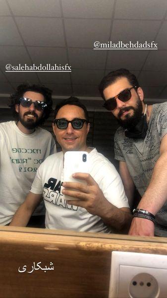 شب کاری های امیرحسین رستمی و دوستانش + عکس
