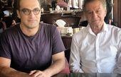 عکس آقای بازیگر در کنار خواننده تازه به ایران بازگشته