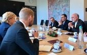 رئیس سازمان انرژی اتمی ایران با  ارنا سولبرگ در اسلو دیدار کرد