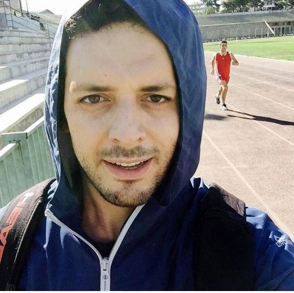 پدرام شریفی در حال ورزش دو و میدانی + عکس