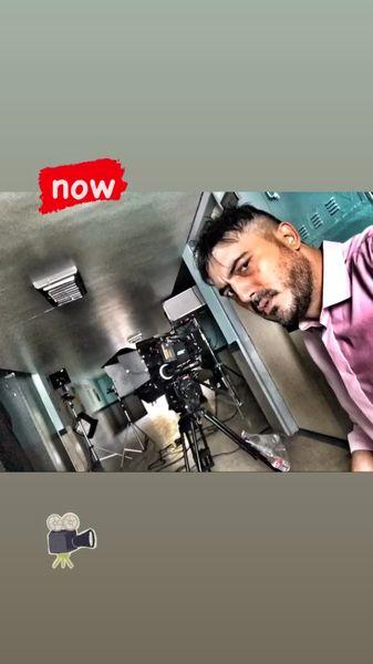 نیما شاهرخ شاهی در حال فیلمبرداری + عکس