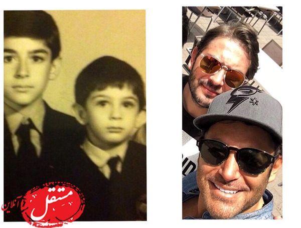 محمدرضا گلزار و برادرش از کودکی تا امروز+عکس