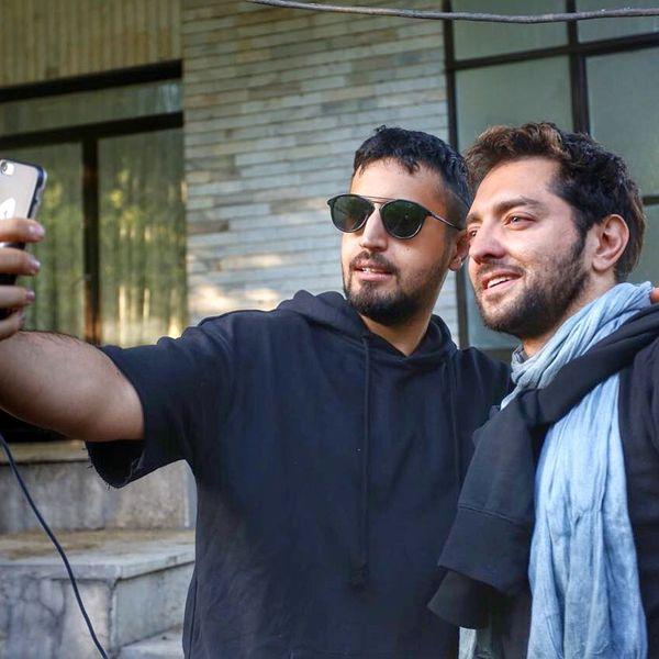 سلفی مهرداد صدیقیان با آقای بازیگر مدل + عکس