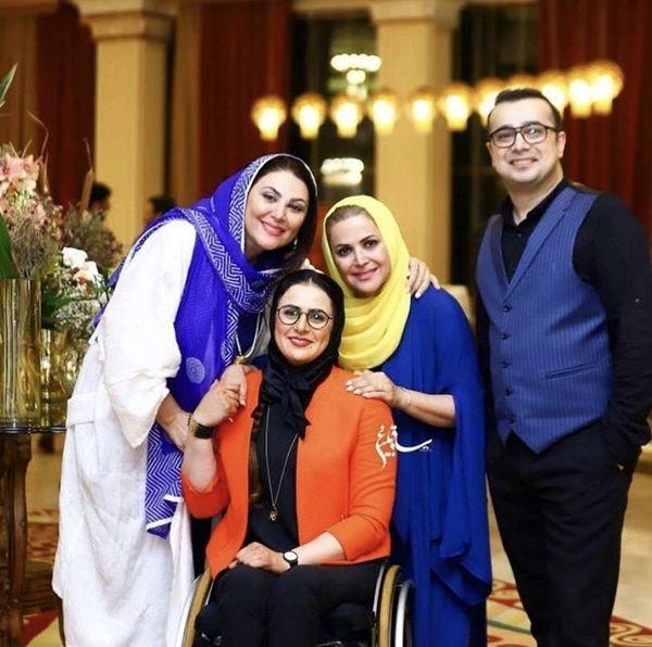 لاله اسکندری در کنار خواهر و برادر معروف + عکس