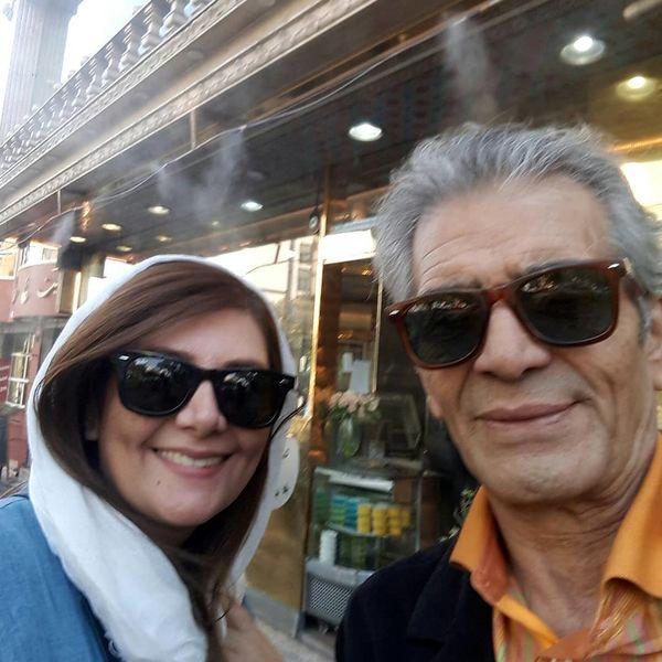 بازیگر پیشکسوت با بانوی بی حاشیه سینما در خیابان+عکس