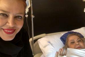 بهاره رهنما در بیمارستان بخاطر جراحی مادرش! عکس
