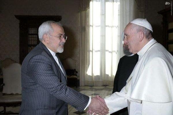 دیدار ظریف با پاپ در ایتالیا+ عکس