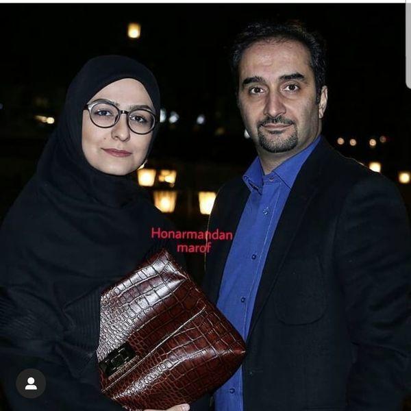 مجری مشهور تلویزیون در کنار همسرش + عکس