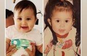 شباهت فوق العاده دختر شاهرخ استخری به کودکی مادرش+عکس