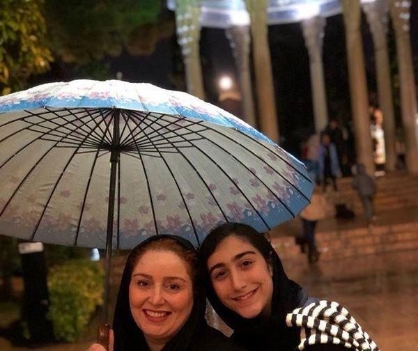 ژاله صامتی و دخترش در سفر پاییزی+عکس