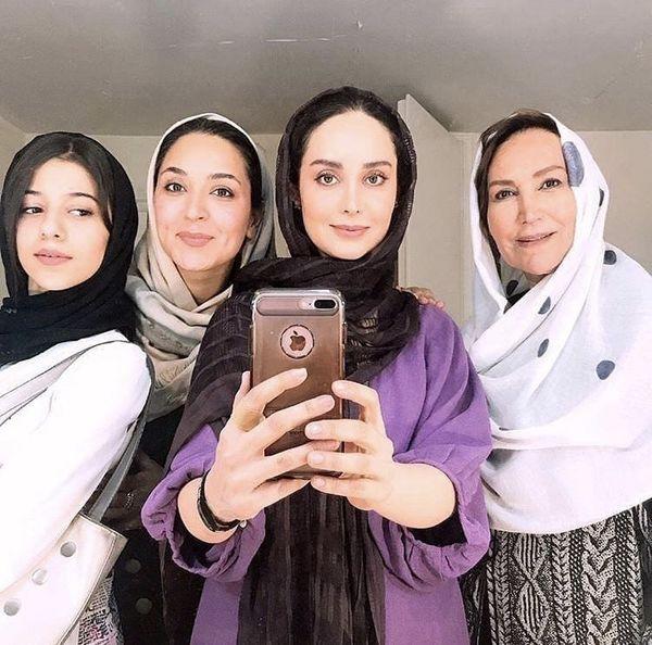 سلفی زنانه بازیگران سریال دخترم نرگس + عکس