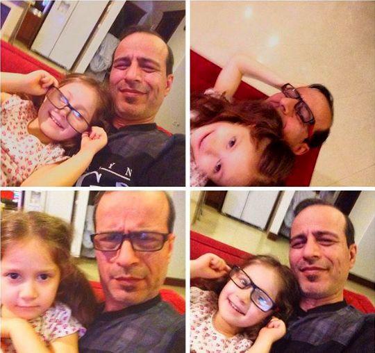 عکس پدرزن شاهرخ استخری و دختر نازش