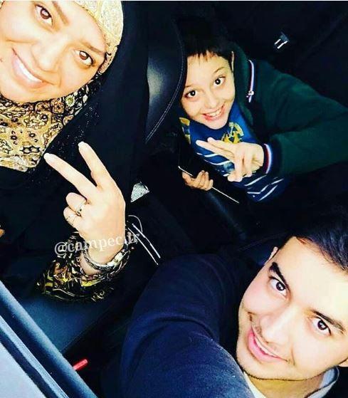 «الهام چرخنده» با پسرانش